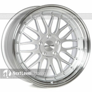 Circuit Performance Cp30 18x9 5 114 3 35 Silver Wheels Lm Style set Of 4