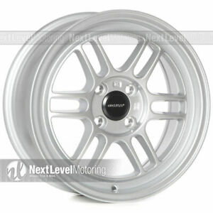 Circuit Performance Cp37 15x7 4 100 28 Silver Wheels Rpf1 Style Set Of 4