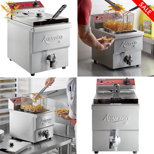 15 Lb Electric Deep Fryer Commercial Countertop Basket French Fry Medium duty