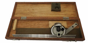 Mitutoyo Universal Bevel Protractor 187 901 High Precision Angle Gage