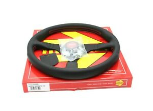 Momo Montecarlo Leather Steering Wheel Red Stitching 350mm Authentic