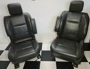 2004 2010 Nissan Armada Front Gray Leather Seats Left And Right