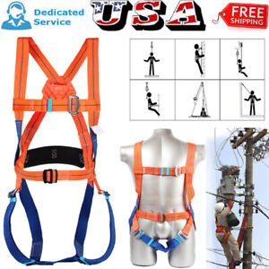 Fall Protection Construction Harness Full Body Safety Waist Belt Universal New
