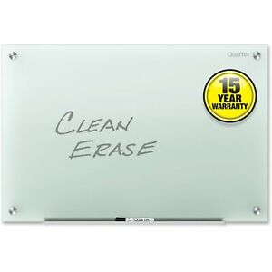 Quartet Infinity Glass Dry Erase Board 36 X 24 Frosted Surface Frameless