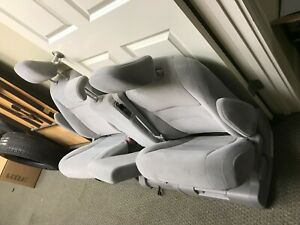 2015 Toyota Sienna Second Row Seats Gray Cloth Whole 3 Seats