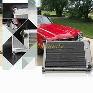 3 Row Core Aluminum Radiator For 1973 1974 Chevy Nova Apollo Olds Ventura At 571