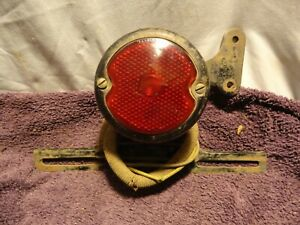 Vintage Duolamp Tail Stop Light License Plate Frame Bracket