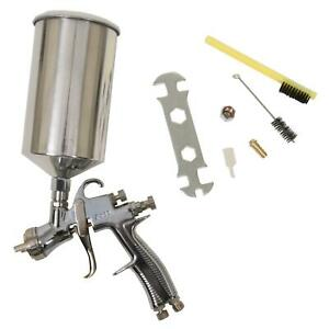 Paint Spray Gun Lvlp Polished Aluminum Gravity Feed 1 4 Mm Nozzle 1000 Ml Cup