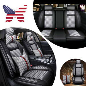 Us Luxury Fashion Car Seat Covers Front Rear Universal 5 Seats Car Suv Truck