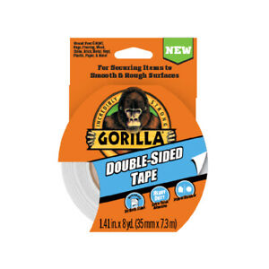 Gorilla Double sided Tape Duct Tape Heavy Duty Indoor Outdoor 1 41 In X 8yd Gray
