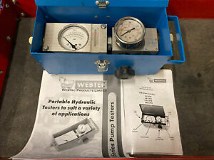 Webtec Web Tec Fik Hydraulic Flow Test Kit Excellent Condition Free Shipping