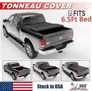 Hard Solid Tri fold For 2009 2018 Dodge Ram 1500 6 5ft Bed Cover Tonneau Cover