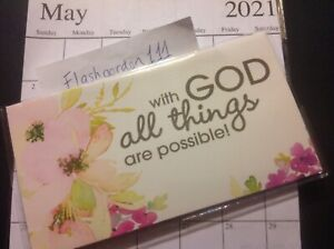2021 2022 With God All Possible Two Year Planner Pocket Calendar 2 Year Datebook
