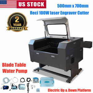 500mmx700mm Reci 100w Co2 Laser Engraver Cutter With Double Side Open Door Fda