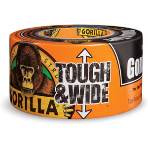 Gorilla Tape Tough And Wide 2 88in X 30yd Strong Thick Adhesive In outdoor Black