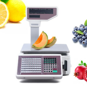 Pro Digital Weight Scale Price Computing Food Meat Scale Produce Deli Fruit