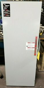 New Ge 200 Amp Fused Double Throw Safety Switch 600 Vac 150 Hp 3r 3 Ph Tdt3364r