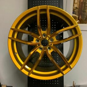 20 Voss Gold Staggered Rims Wheels Fits Ford Mustang Gt 5 0 Ecoboost