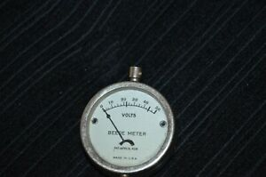 Antique Vintage Beede Battery Test volts Meter Cable Usa