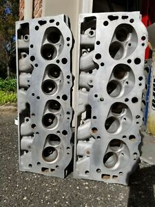 Original Gm 3946074 Big Block Chevy Aluminum Cylinder Heads Look