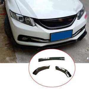 Fit For Honda Civic 9th 2012 2013 2015 Abs Black Front Bumper Lip Chin Spoiler