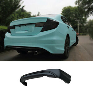 Matte Black Fit For Honda Civic 2012 2013 Rear Bumper Diffuser Spoiler Bodykit