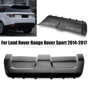 For Land Rover Range Rover Sport 2014 17 Black Rear Bumper Skid Plate Cover Abs