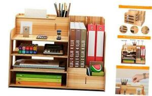 Wooden Office Desk Organizers And Accessories Multi functional Stationary Offic