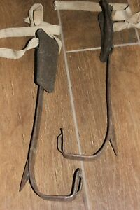 Vtg 16 Klein Sons Tree Pole Climbing Spikes Gaffs Spurs Lineman Lumberjack