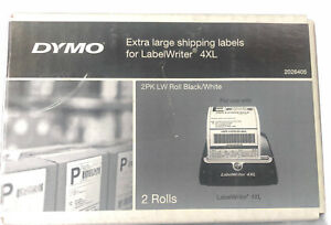 Dymo Lw Extra large Shipping Labels 4 X 6 White 220 roll 2 Rolls pack 2026405
