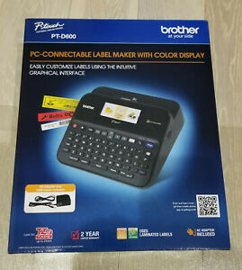 Brand New Brother Printer Ptd600 Pc Connectible Label Maker Black