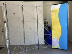 Trade Show Pop Up Display Aluminum Frame 4 Panels 9 Tall 10 Long W case