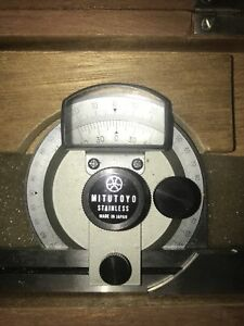Mitutoyo Universal Bevel Protractor 187 904 High Precision Angle Gage