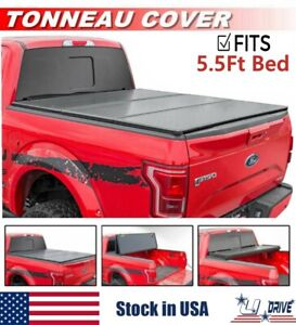 Hard Solid Tri Fold Fits 2015 2021 Ford F 150 5 5 66 Bed Cover Tonneau Cover