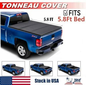 Hard Solid Tri fold For 2019 2020 Gmc Sierra 1500 5 8ft Short Bed Tonneau Cover