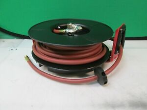 Reelcraft Rt850 olp1 Heavy Duty Air water Hose Reel 1 2 X 50 ft 300psi Rewind