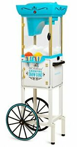 Nostalgia Inch Tall Snow Cone Cart Metal Scoop Makes 48 Icy snow Cone Cart