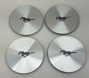 96 98 Mustang 17 Wheel Center Hub Caps Set Of 4 F7zc 1a096 aa 3