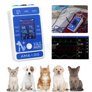 Bluetooth Veterinary Animal Patient Monitor Ecg nibp spo2 heart Rate Resp Temp