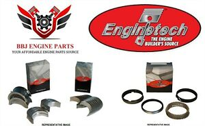 Chevy 4 8 5 3 Lm7 Lr4 Ly2 Ly5 Enginetech Piston Rings With Rod And Main Bearings