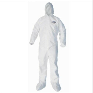 Kleenguard A20 Xl White Coveralls Hooded Booted 49124 Breathable Protection