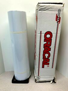 Oracal 651g 010 Roll White Glossy Vinyl Adhesive Plotter Sign 24 X 50 Yards
