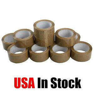 72 Rolls 2 Inch X 110 Yards 330 Ft Brown Carton Sealing Packing Package Tape