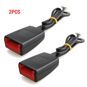 2x 7 8 Car Front Seat Belt Buckle Socket Plug Connector Belts Warning Cable