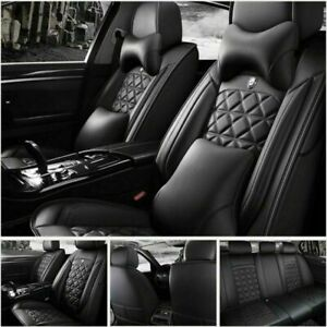 Luxury 11pcs Car Seat Cover Set Auto Suv Protector Front Rear Universal 5 Seats
