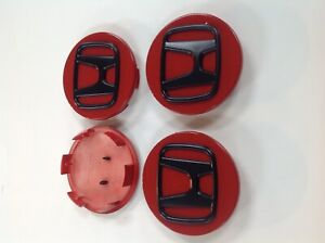 Wheel Center Caps Fits Honda 69mm 2 72 Inch Red Black 4 Pcs