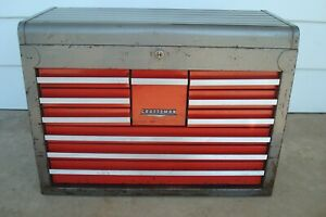Vintage Craftsman 10 Drawer Tool Chest Top Box Tool Box 65282 With Key 1 Of 2