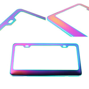 X1 Universal Neo Chrome Stainless Steel License Plate Frame