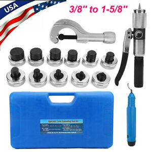 11 Lever Hydraulic Tube Expander Sets Flaring Hvac Refrigeration Swaging Tools