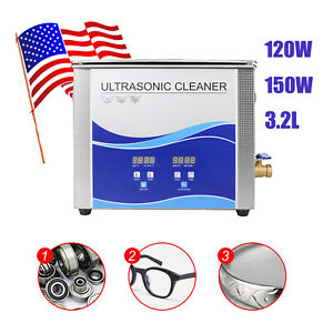 Ce 3 2l Ultrasonic Cleaner Cleaning Machine Liter Industry Heated W timer Heater